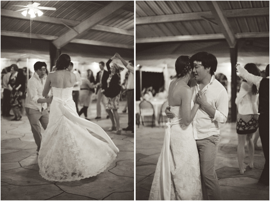 bride and groom dancing, vintage wedding photographers