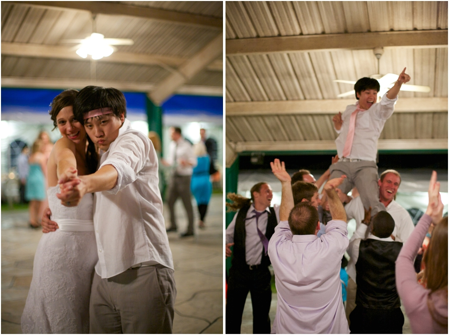 fun wedding reception photography, southern wedding photographers