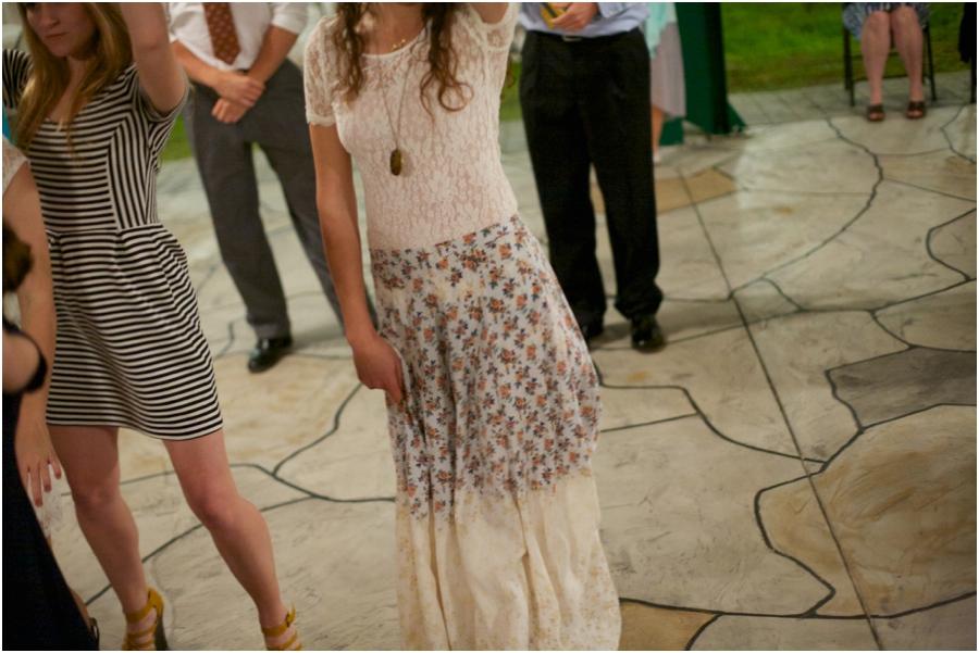 guests dancing at outdoor wedding reception, rustic wedding photographers