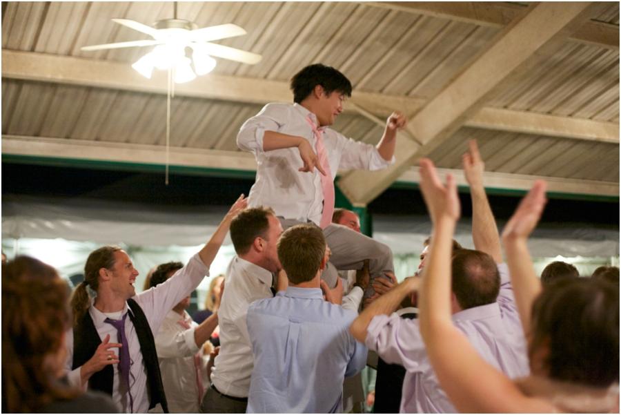 fun wedding reception photography, raleigh nc