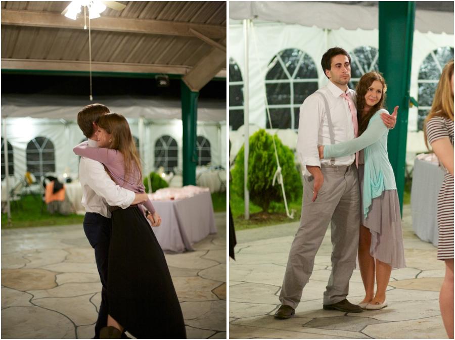 couple dancing at wedding reception, outdoor wedding reception photography