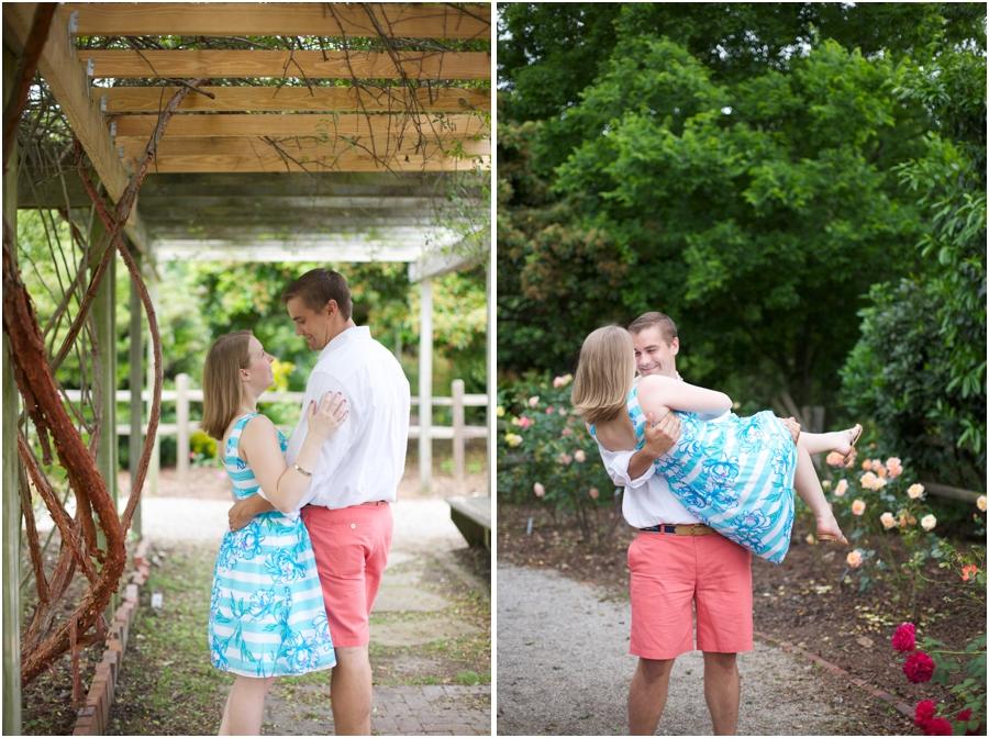 romantic summer engagement photography, garden engagement photographers