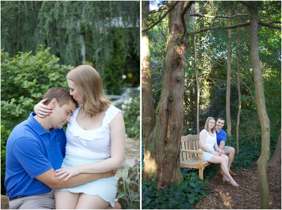 beautiful garden engagement photography, woodsy engagement photography