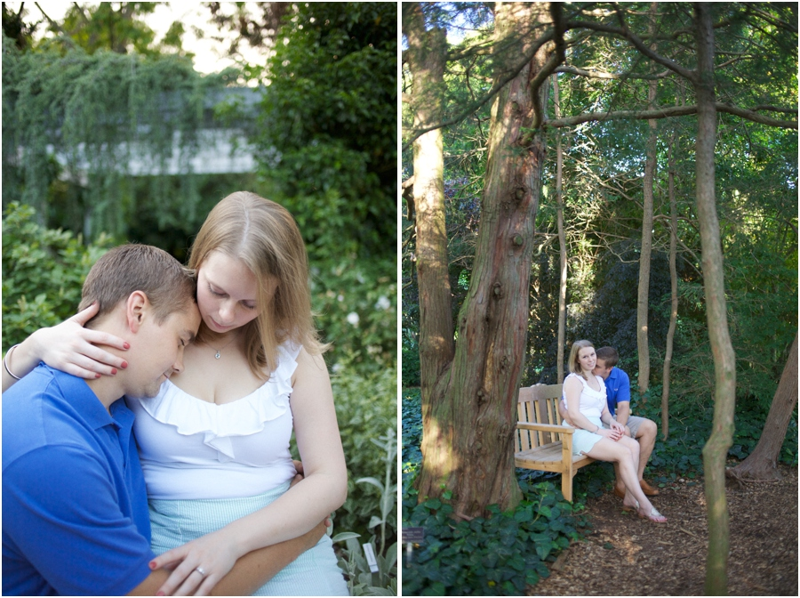 intimate engagement photography, forest engagement photography
