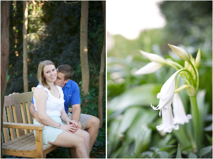 southern engagement photography, white flowers, vintage engagement photographers