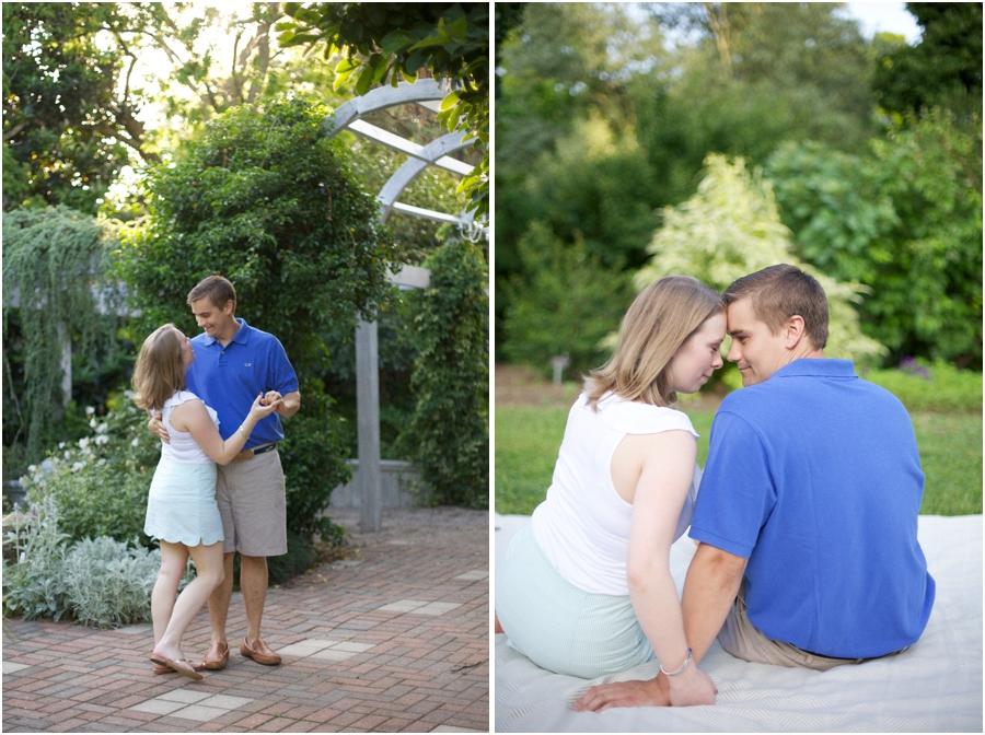 couple dancing, romantic engagement photography, southern engagement photographers