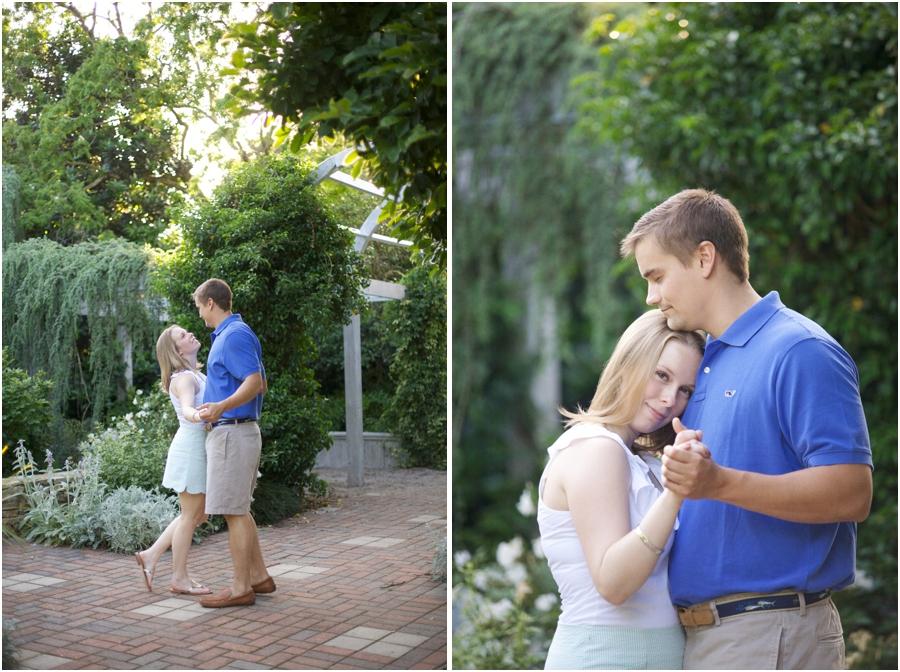 garden engagement photography, intimate engagement photographers
