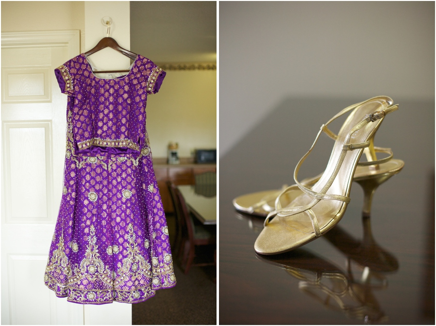 indian bridal wear, bride's gold heels, southern wedding photographers