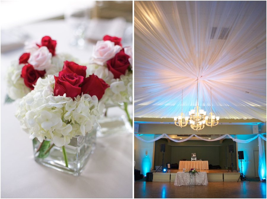fresh flower centerpieces from Fresh Affairs, elegant wedding reception decor, southern wedding photographers