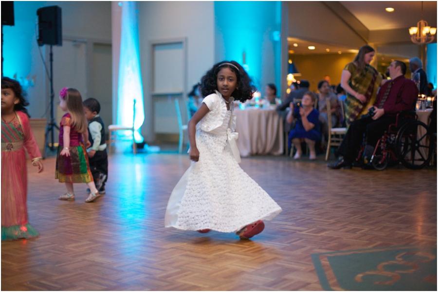 little girl dancing at wedding reception, southern wedding photographers