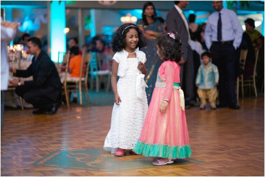 little girls dancing at wedding reception, southern wedding photographers