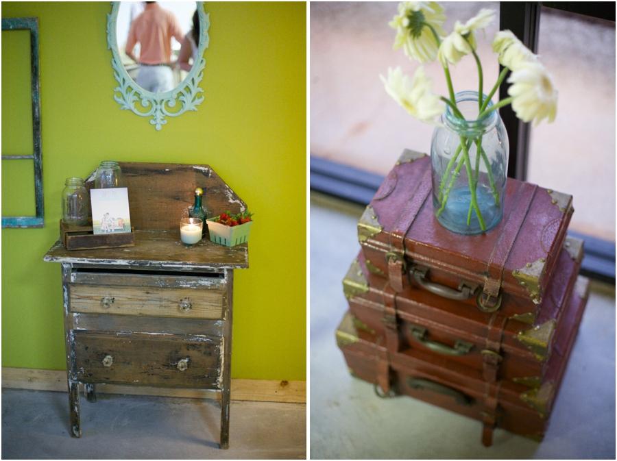 vintage rentals from Simply Put Vintage, vintage suitcases, vintage wedding photographers