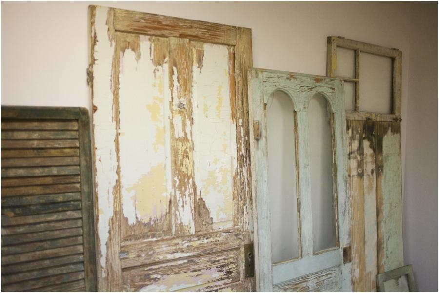 vintage doors, simply put vintage rentals, vintage wedding photographers