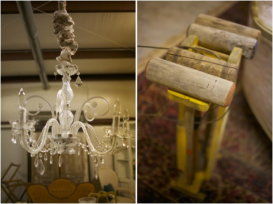 vintage glass chandelier, simply put vintage rentals, vintage wedding photographers