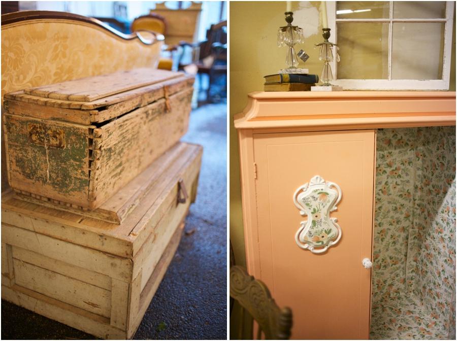 vintage furniture rentals, simply put vintage rentals, vintage wedding photographers