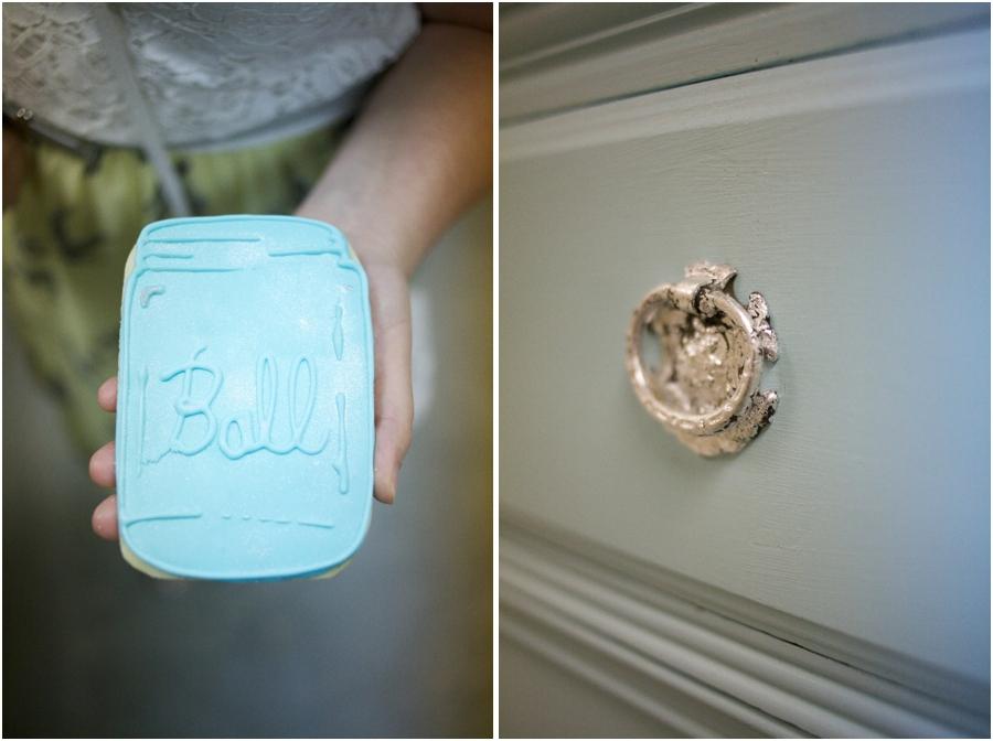 blue ball mason jar cooking, vintage wedding photography