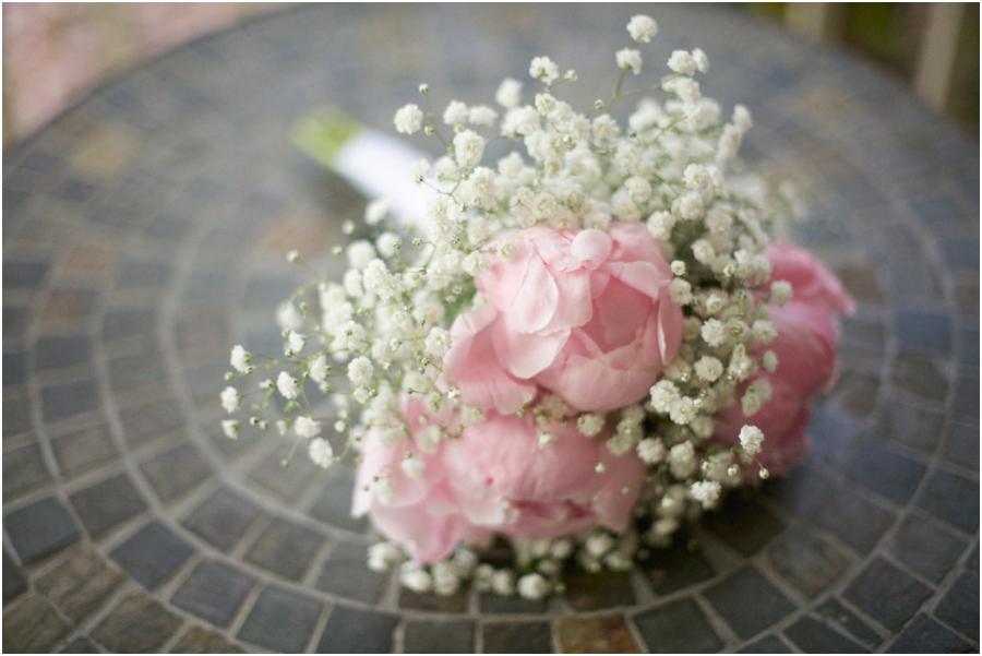 baby's breath bridesmaid bouquets, winston salem nc southern wedding photographers