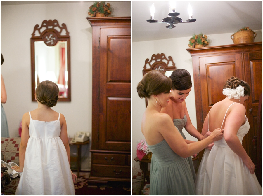 junior bridesmaid hairstyles, bride getting ready photography, raleigh nc