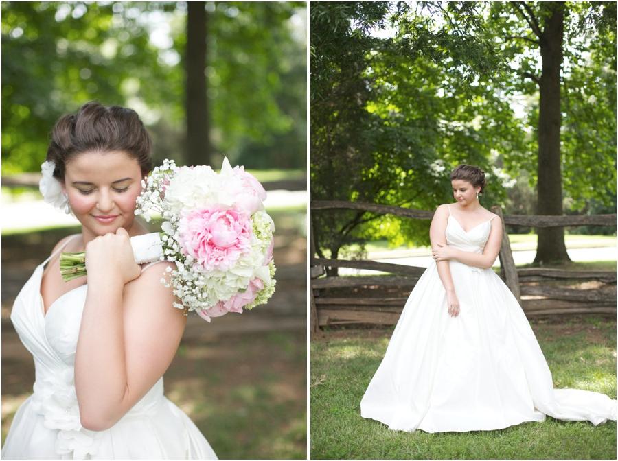 beautiful bridal portraits, rustic wedding photography