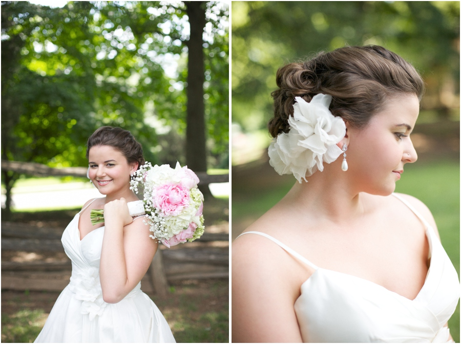 beautiful outdoor bridal photography, southern bridal hairstyles