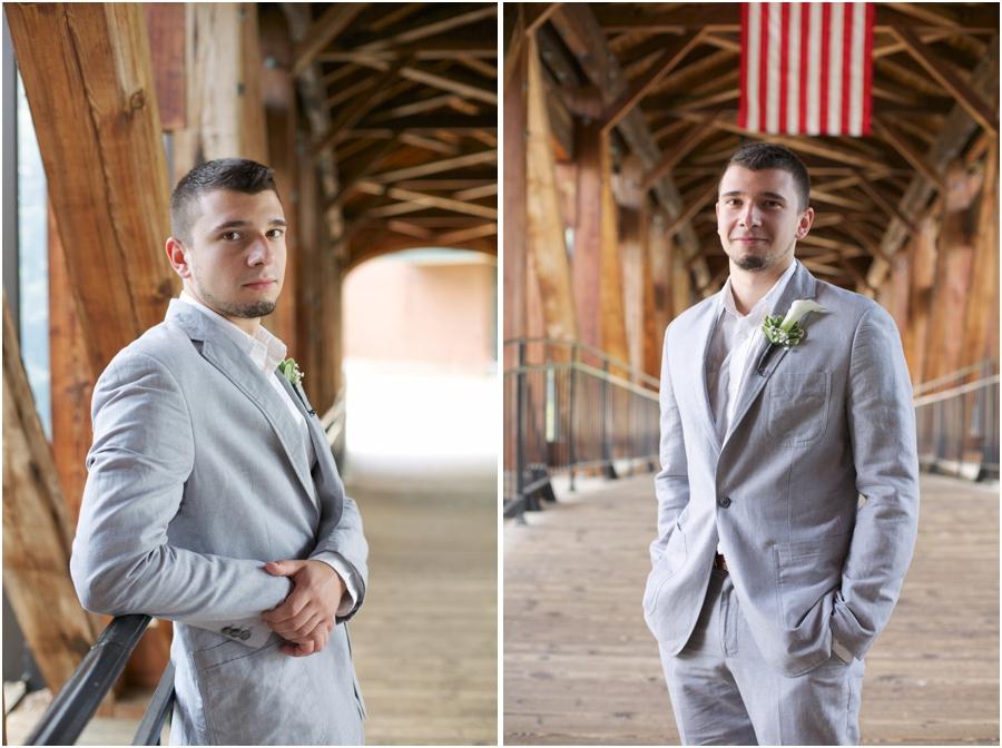 groom's light grey suit from Macy's, southern groom photography, winston salem nc wedding photographers