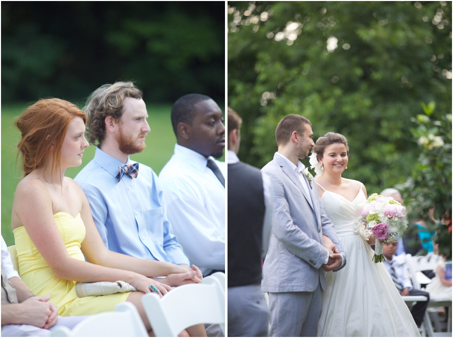 guests at outdoor wedding, southern wedding photographers