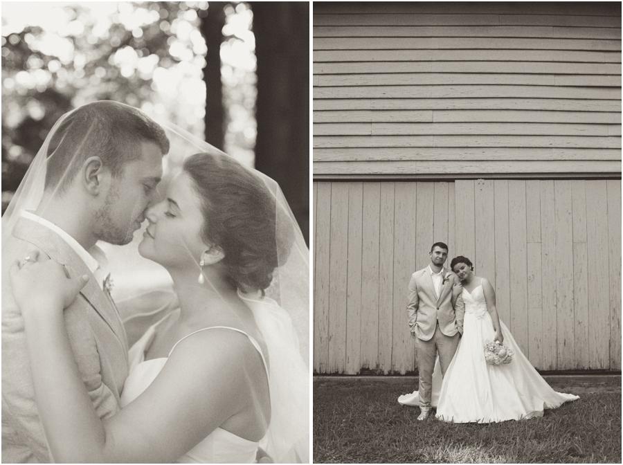 romantic black and white portraits, vintage wedding photography