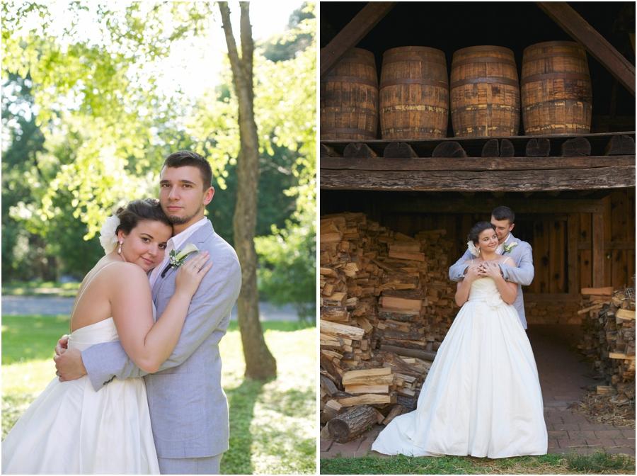 intimate wedding photography, old salem wedding photographers