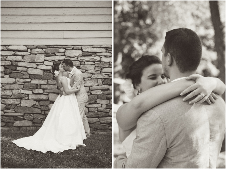 romantic vintage wedding photography, black and white wedding portraits