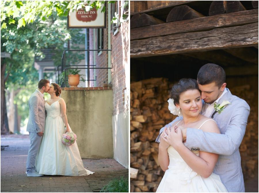 old salem wedding photography, romantic wedding photographers