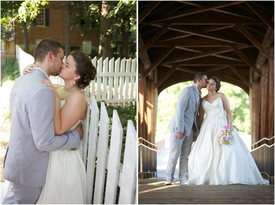 romantic wedding portraits, old salem wedding photography