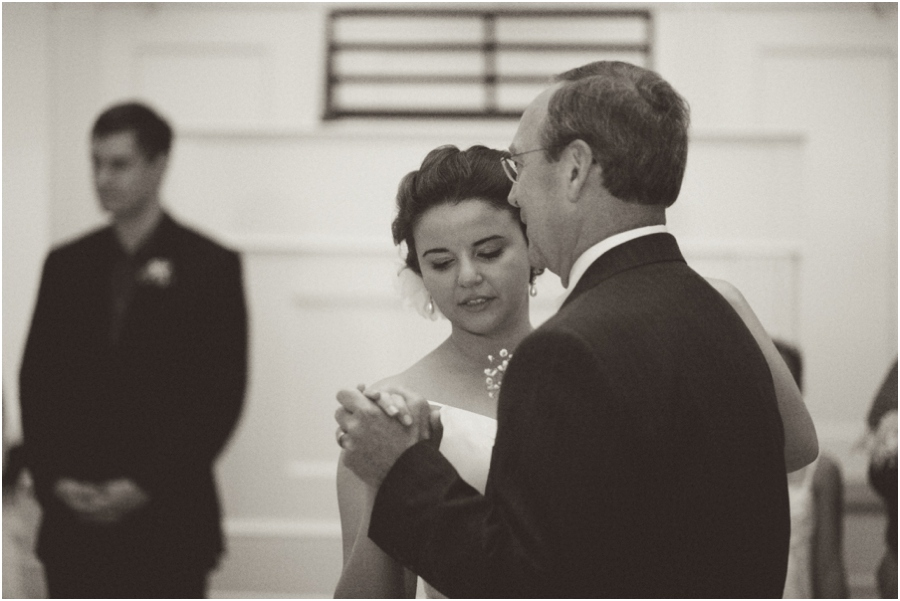 vintage wedding photography, father daughter dance