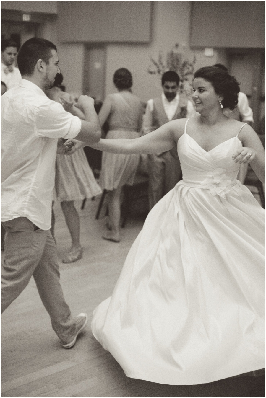 bride and groom dancing, winston salem nc vintage wedding photographers