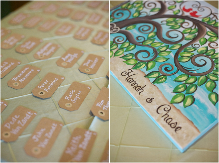 cute diy place holders, cute guest book idea, southern wedding photographers