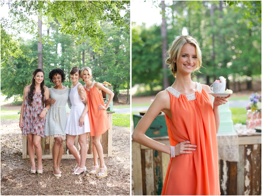bridesmaids, southern bridal luncheon, vintage wedding photographers