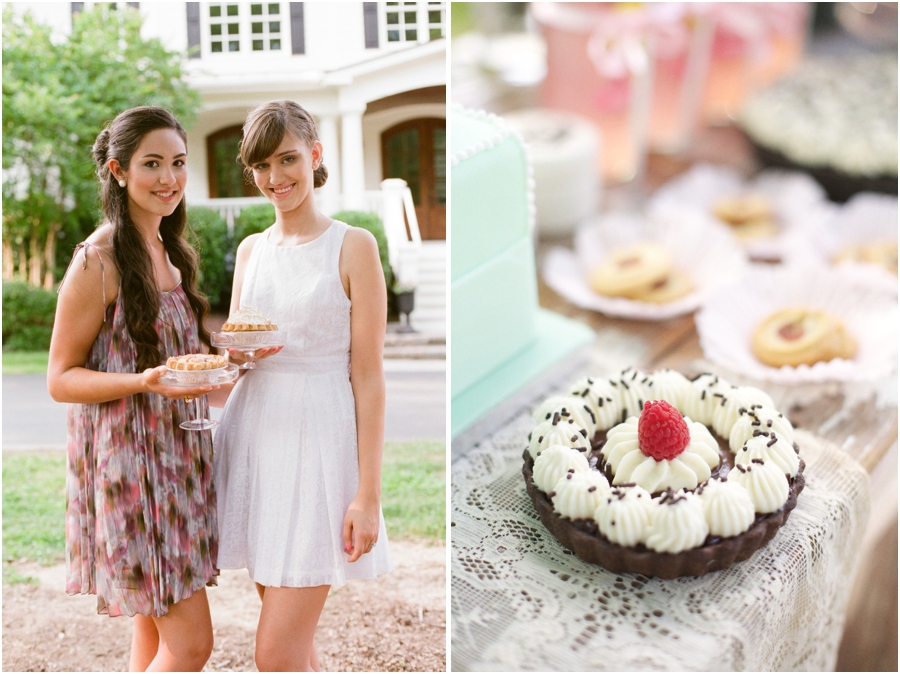 bridesmaids at southern bridal luncheon, yummy summer treats, summer wedding photography