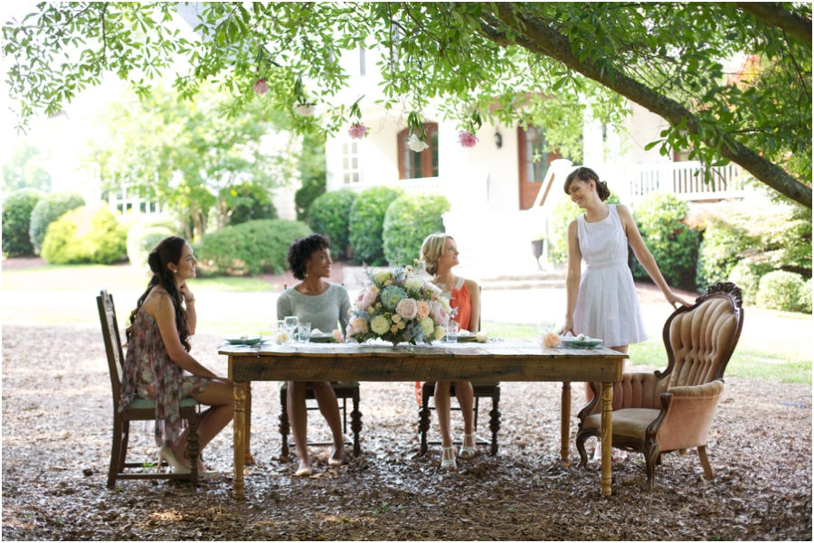 southern bridal luncheon, vintage bridal photography, rustic wedding photographers
