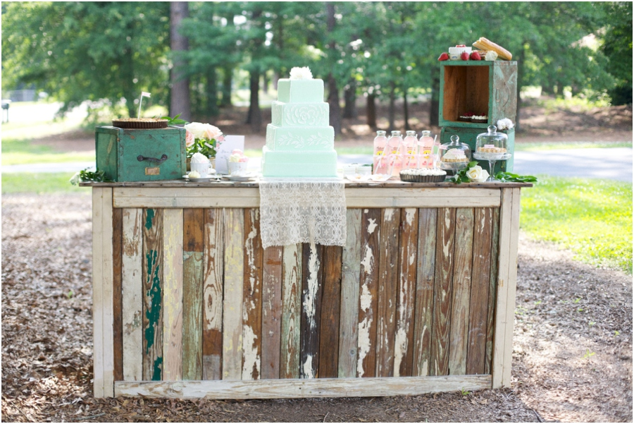 rustic reception bars, southern bridal luncheon, summer wedding photography