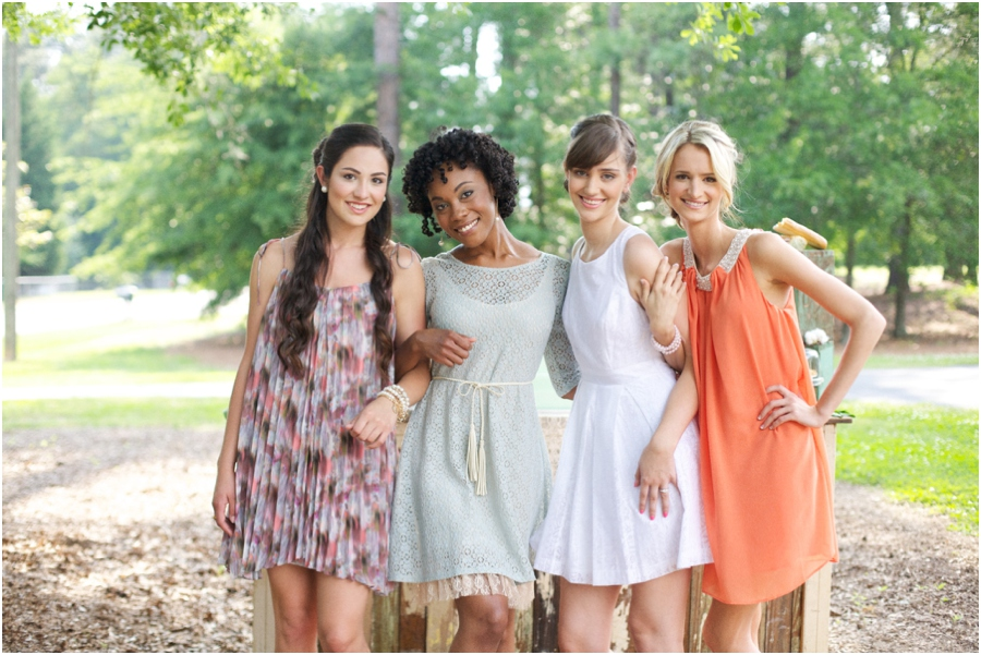 summer bridal luncheon, raleigh nc southern photography