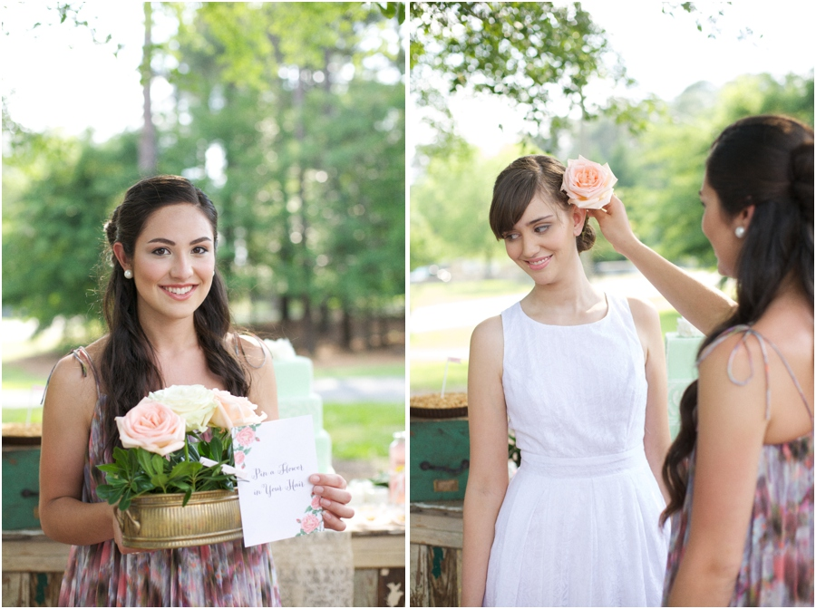 rustic wedding photography, southern bridal luncheon