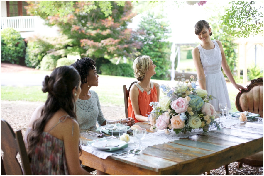 summer bridal luncheon, southern bridal photography