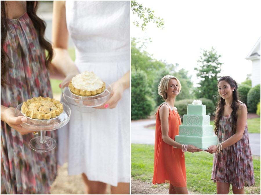yummy mini pies, southern pie luncheon, southern editorial photography
