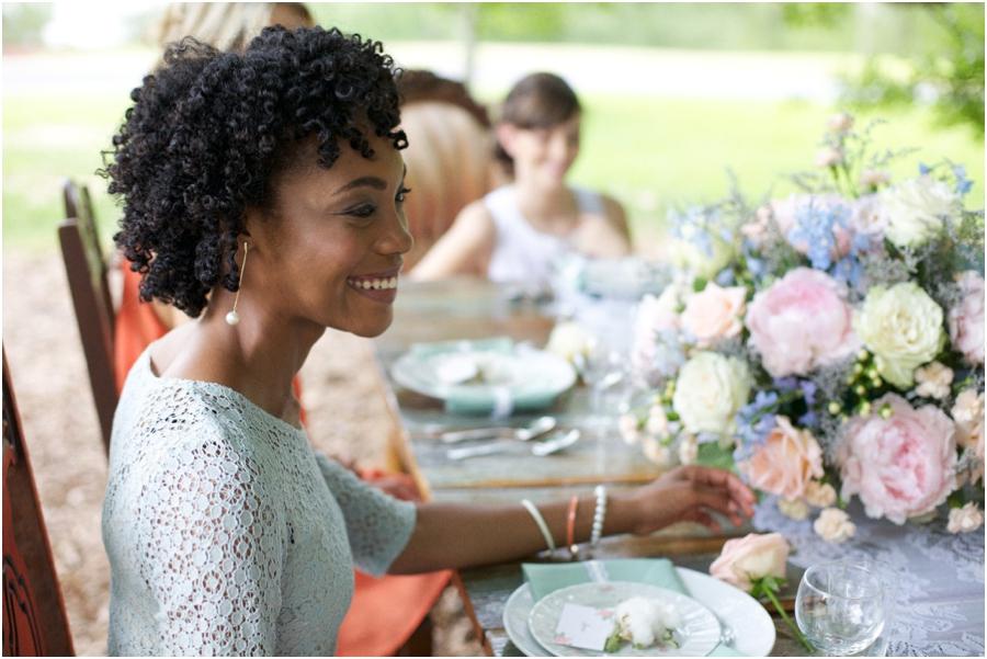 summer pie luncheon, vintage bridal photographers