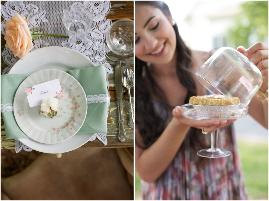 beautiful vintage table settings, southern wedding photographers