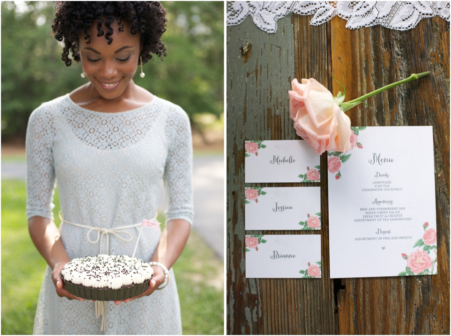 summer editorial photography, garden party-style stationary from Crafty Pie Press