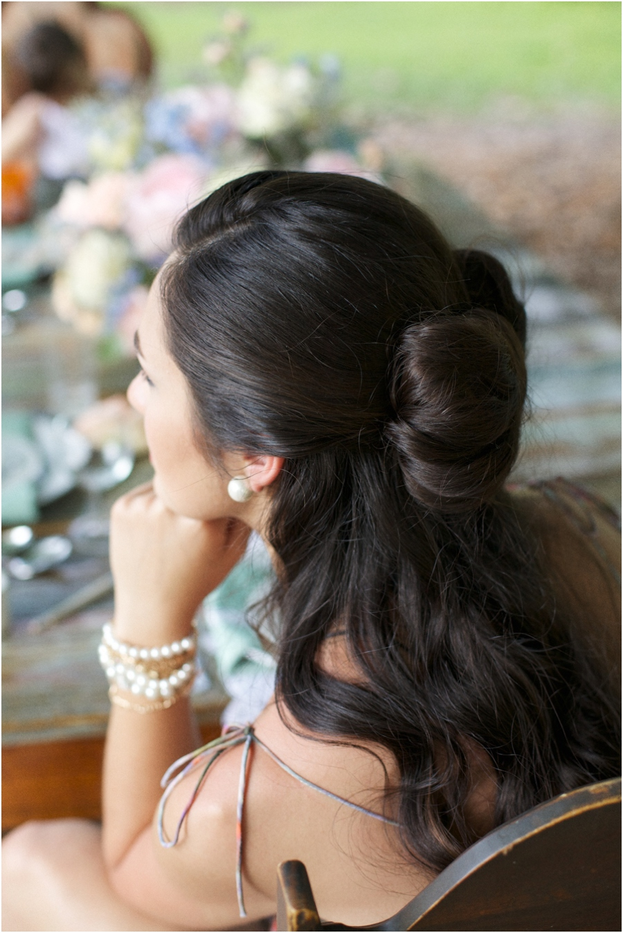 southern photography, bridesmaid long hairstyles, modern vintage bridal photographers