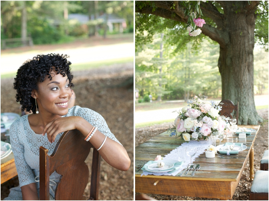 southern editorial photography, beautiful garden luncheon, rustic wedding photographers