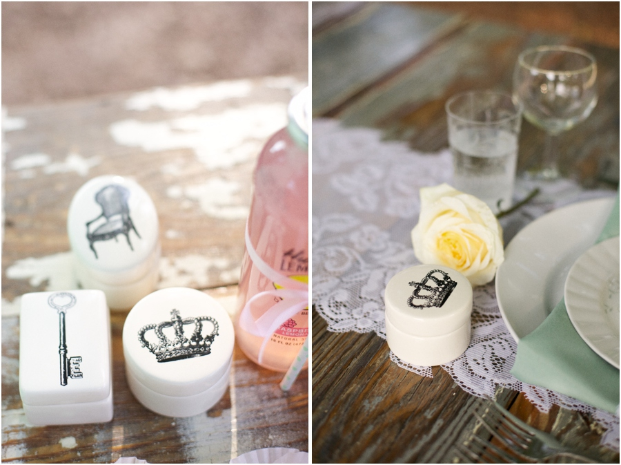 vintage style trinket boxes, southern bridal luncheon, rustic wedding photographers