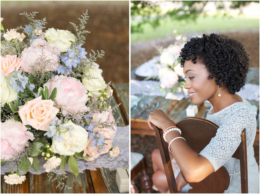 fresh floral centerpiece from Embellished Blooms, southern portrait photography