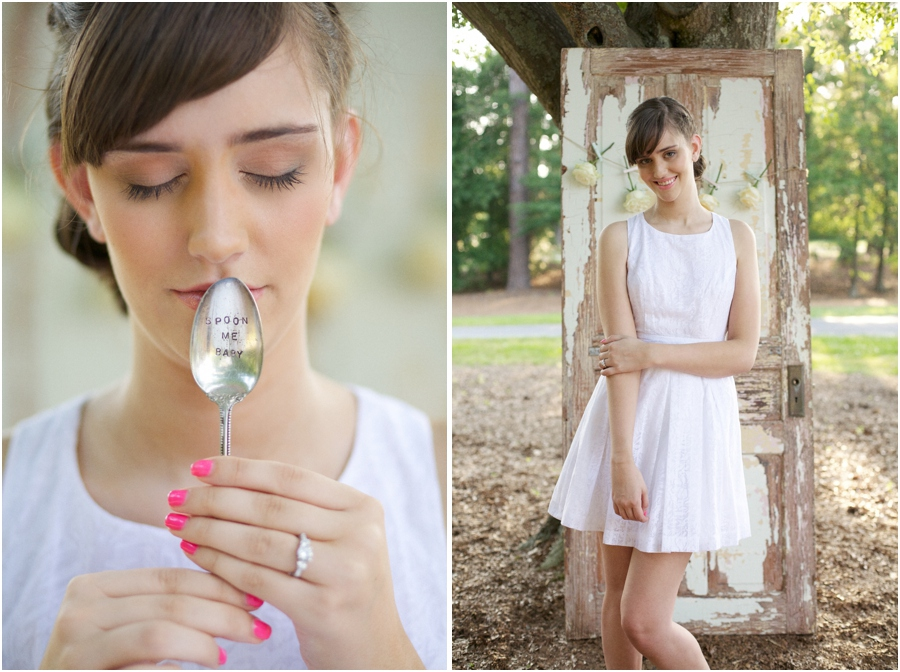 silver 'spoon me baby' spoon, summer editorial photography